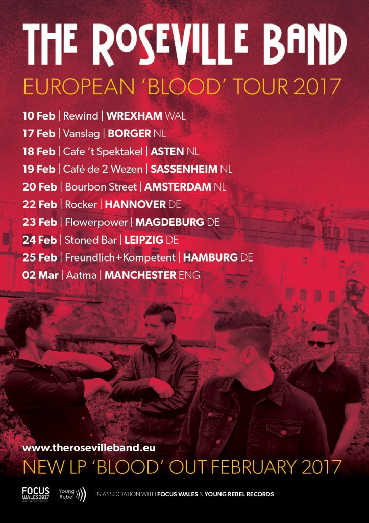 The Roseville Band Blood Tour Poster